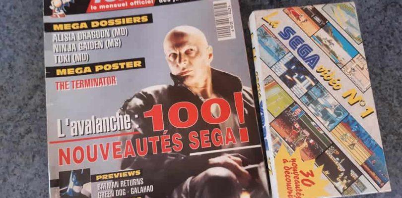 Découvrez la cassette du magazine MEGA Force, mensuel officiel des jeux SEGA