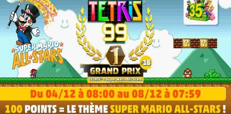 Le prochain Maximus Cup Tetris 99 aura pour thème Super Mario All-Stars