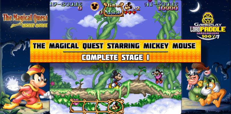 The Magical Quest Starring Mickey Mouse (SNES) Gameplay 100%