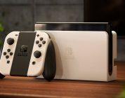 Le modèle OLED Nintendo Switch exposé au Nintendo Tokyo