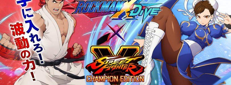 La collaboration Mega Man X DiVE Street Fighter ajoute Chun-Li et Ryu
